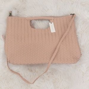 Anthropologie Rose Oversized Woven Tote